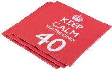 Neviti Servietten 40._. Geburtstag Keep Calm