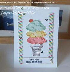 Sprinkles Of Life – New Stampin' Up! Stamp Set For Ronald McDonalds House Charities. Card created by Anna Krol, Stampin' Up! UK Independent Demonstrator, www.annastampincave.stampinup.net
