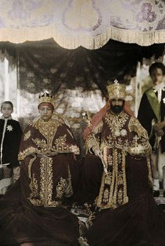 heavyarethecrowns:  Emperor Haile Selassie I & Empress Menen Asfaw, last ruling monarchs of Ethiopia HeavyaretheCrown 1,500 followers spam