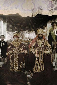 heavyarethecrowns:  Emperor Haile Selassie I & Empress Menen Asfaw, last ruling monarchs of Ethiopia HeavyaretheCrown 1,500 followers spam
