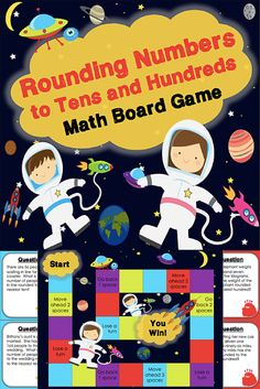 This rounding board game contains 30 WORD PROBLEM game cards to help students practice rounding numbers to the tens place and hundreds place (3.NBT.A.1). This game works great as a pair/group activity, or for use in math centers.