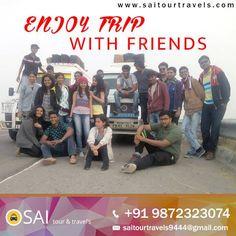 Enjoy Trip with Friend's Sai Tour & Travels #Tempotraveller #Mohali #Panchkula #Taxiservice #Chandigarh