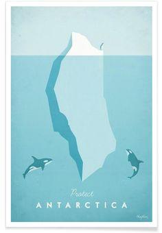 Antarctica als Premium Poster von Henry Rivers | JUNIQE