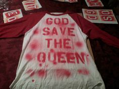 "Seditionaries Inspired Punk Clothing - D.I.Y. ""God Save The Queen"" Baseball-Styled Punk Shirt (Size: Medium)"
