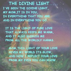 'Divine Light'- my poem about my mother