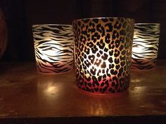 Zebra and leopard candle holders. Yes, please!