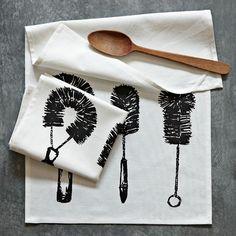 Brushes Tea Towel | west elm