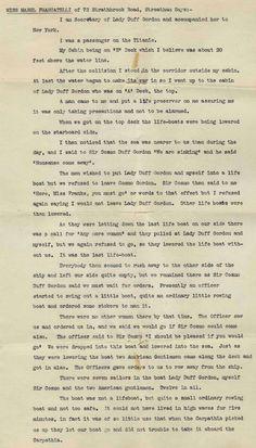 Testimony of a survivor #Titanic