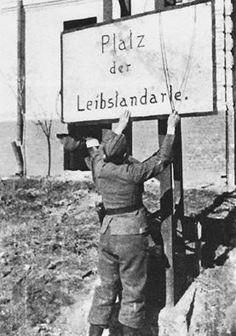 -Vintage Street Art ! Leibstandarte was Hitler`s Body Guard!