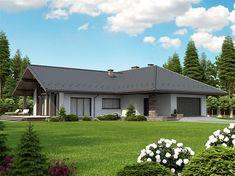 Projekt domu Lemko Termo 187,63 m2 - koszt budowy - EXTRADOM House Plans Mansion, New House Plans, Dream House Plans, House Floor Plans, Home Room Design, Small House Design, Modern House Design, Design Kitchen, Village House Design