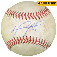 David Ortiz Boston Red Sox Fanatics Authentic Autographed 2016 Final Season Game-Used Baseball David Ortiz, Boston Red Sox, Fan Gear, Seasons, Baseball, Games, Mlb, Seasons Of The Year