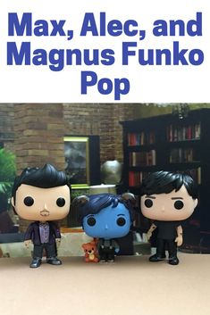 Magnus, Alec, and Max custom funko pops from Mortal Instruments. #mortalinstruments #shadowhunter #ad