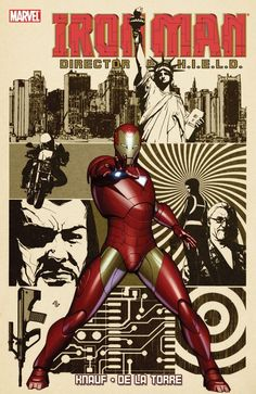 IRON MAN Director of SHIELD (homage to Steranko's NFAOS)