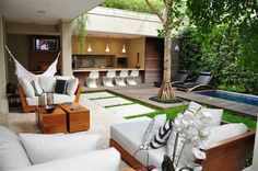 Today we are here to show you some outdoor design ideas! It may be time to start planning your home's exterior design, so we got some outdoor deck ideas for you Outdoor Areas, Outdoor Rooms, Outdoor Living, Outdoor Decor, Outside Living, Exterior Design, Architecture Design, New Homes, Home Decor