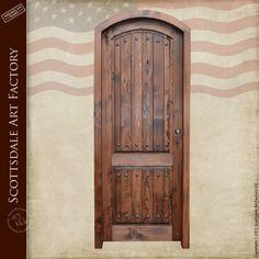 Custom Entry Doors - Castle Design Wood Exterior Door | Hand Crafted ...
