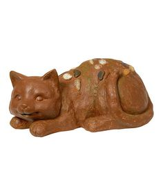 Take a look at this Brown Cat Garden Sculpture by Backyard Oasis Boutique on #zulily today!