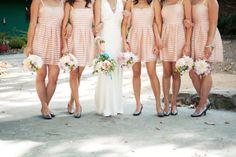 Bridesmaid dresses by H&M (via style me pretty)