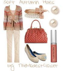 """""""Soft Autumn Hues"""" by themodestcloset on Polyvore"""