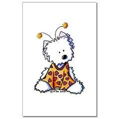 Luv Bug Westie Mini Poster Print