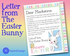 Letter From The Easter Bunny By Nspiredesign On Etsy  Easter
