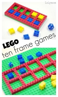 LEGO Ten Frame Games - Fun ideas for ten frames. Perfect for math centers in the classroom or fun math activities for kids at home!
