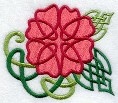 Rose Knotwork design (A9733) from www.Emblibrary.com