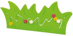 Colorful HABA Blooming Meadow Wooden Play Wall Decoration is an eye-catcher in any classroom, therapy center or children's waiting area. Mobiles, Public Library Design, Toddler Play Area, Kindergarten, Wall Game, Wall Appliques, Decoration Piece, Business For Kids, Orange Flowers