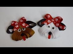 PUPPY DOG Ribbon Sculpture Zoo Animal Hair Clip Bow DIY Free Tutorial by...