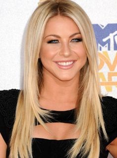 Julianne Hough's Long Straight Blonde Hairstyle...want it.