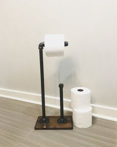 Spare Kitchen Tissue Holder Jute Look Up to 10 rolls of Kitchen Paper mDesign Wall Mounted Kitchen Roll Holder No Drilling Needed Practical Floating Shelves for the Household Towel Holder