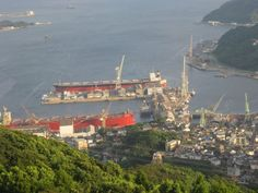 Sasebo ship yard San Francisco Skyline, Yard, Ship, Japan, Landscape, Places, Travel, Okinawa Japan, Viajes