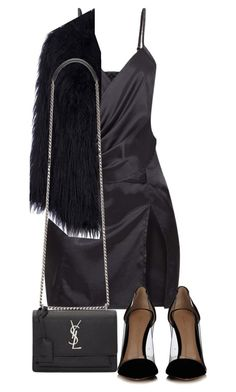 """""""Untitled #5068"""" by theeuropeancloset on Polyvore featuring Gianvito Rossi and Yves Saint Laurent"""
