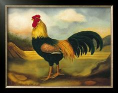 Old English Game Cock Giclee Print by Porter Design at Art.com