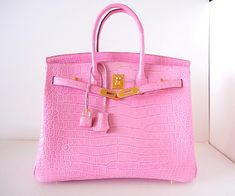 Hermes pink croc Birkin- another lottery purchase