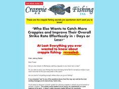 ① The Mega Guide To Crappie Fishing USA - http://www.vnulab.be/lab-review/%e2%91%a0-the-mega-guide-to-crappie-fishing-usa