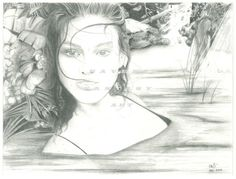 Blue Eyes by RavensFantasyArt on Etsy, $10.00