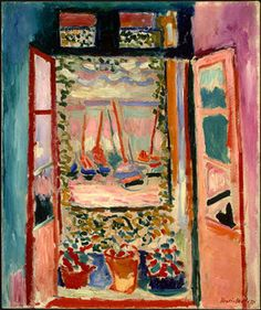 Henri Matisse (French, Fauvism, 1869-1954): Open windew at Collioure, 1905-06. - Google Search