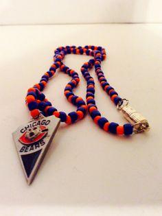 Chicago Bears sports necklace Cgo Bears by JeriAielloartstore