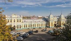 Irkutsk-Passazhirsky railway station is railway station in Irkutsk, a city and the administrative center of Irkutsk Oblast, Russia.    Book your Russian Train T... Get more information about the Irkutsk-Passazhirsky railway station on Hostelman.com #attraction #Russia #landmark #travel #destinations #tips #packing #ideas #budget #trips #trans-siberian #railway