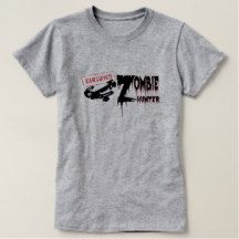 Certified Zombie Hunter Ladies T-Shirt Grey