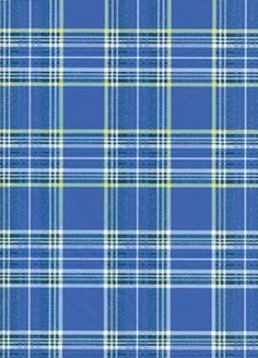 3PK Decopatch Tissue Paper - Blue, Green, White - Plaid Pattern #602 3 sheets of decoupage/paper mache/collage paper; acid free.