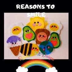 Felt Gifts, Reasons To Smile, Facebook Sign Up, Small Businesses, Rainbow, Christmas Ornaments, Holiday Decor, Handmade Gifts, Etsy