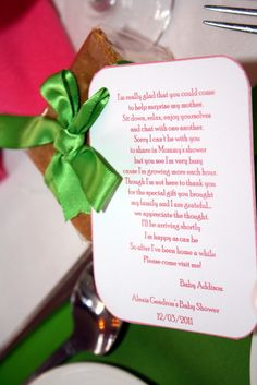 Best baby shower poem...of course I find this late on the night before a surprise shower I'm helping with! Tooooo late!