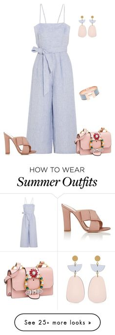 Summer Outfits : outfit 6617 by natalyag on Polyvore featuring J.Crew Gianvito Rossi Miu Miu