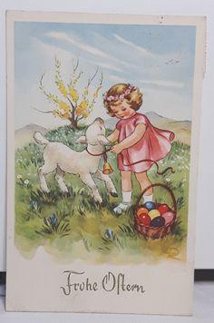 Vintage Cards, Vintage Postcards, Nostalgic Pictures, Old Cards, Easter Art, Easter Parade, Vintage Easter, Illustrations And Posters, Art Studios