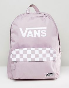 Get this Vans's backpack now! Click for more details. Worldwide shipping. Vans Sporty Realm Backpack In Lilac - Purple: Backpack by Vans, Fabric outer, Printed lining, Grab handle, Adjustable padded straps, Vans logo, Checkerboard print detail, Zip-top closure, External pocket, Machine wash, 100% Polyester. Famed for its iconic skate shoes, Vans was born in Sixties California and has since garnered a cult following that includes skateboarders, sports stars and style makers alike. Epitomising…