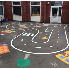 Imagination Excercise for kids Outside Playground, Preschool Playground, Playground Games, Playground Flooring, Playground Design, Outdoor Fun For Kids, Backyard For Kids, Playground Painting, Outdoor Classroom