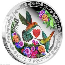 Fine Silver Coloured Coin – Love is Precious: Hummingbirds – Mintage: Penny Auctions, Silver Coins For Sale, Numismatic Coins, Canadian Coins, Kawaii Halloween, Coins Worth Money, Coin Art, Gold Stock, Show Me The Money