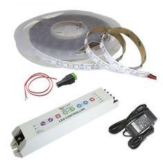 LED light strips Rgb Led Strip Lights, Led Light Strips, Strip Lighting, Cool Lighting, Lighting Ideas, Lighting Design, House Wiring, Led Tubes, Interior Lighting