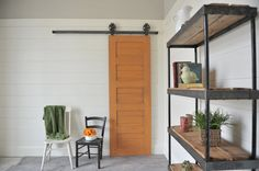Love this type of door -- and the company is in Woods Cross -- Top-Mount Vintage Sliding Hardware $230 on Etsy